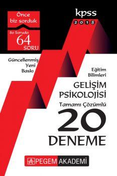 Pegem Yayınları 2018 Eğitim Bilimleri Gelişim Psikolojisi Tamamı Çözümlü 20 Deneme