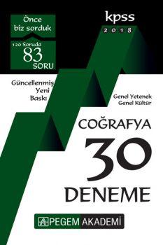 Pegem Yayınları 2018 KPSS Genel Yetenek Genel Kültür Coğrafya 30 Deneme