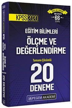 Pegem Yayınları 2020 KPSS Ölçme ve Değerlendirme Tamamı Çözümlü 20 Deneme