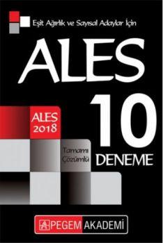 Pegem Yayınları 2018 ALES Eşit Ağırlık ve Sayısal Adaylar İçin Tamamı Çözümlü 10 Deneme