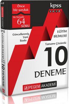 Pegem Yayınları 2018 KPSS Eğitim Bilimleri Tamamı Çözümlü 10 Deneme