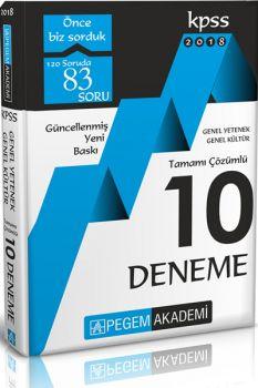 Pegem Yayınları 2018 KPSS Genel Yetenek Genel Kültür Tamamı Çözümlü 10 Deneme