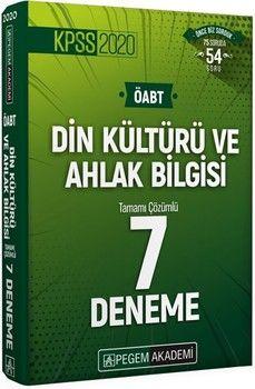 Pegem Yayınları 2020 KPSS ÖABT Din Kültürü ve Ahlak Bilgisi Tamamı Çözümlü 7 Deneme
