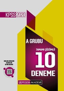 Pegem Yayınları 2020 KPSS A Grubu Tamamı Çözümlü 10 Deneme