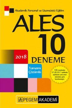 Pegem Yayınları 2018 ALES Tamamı Çözümlü 10 Deneme