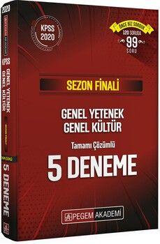 Pegem Yayınları 2020 KPSS GYGK Sezon Finali Tamamı Çözümlü 5 Deneme