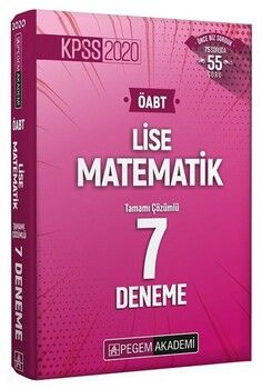 Pegem Yayınları 2020 KPSS ÖABT Lise Matematik Tamamı Çözümlü 7 Deneme