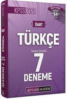 Pegem Yayınları 2020 KPSS ÖABT Türkçe Öğretmenliği Tamamı Çözümlü 7 Deneme
