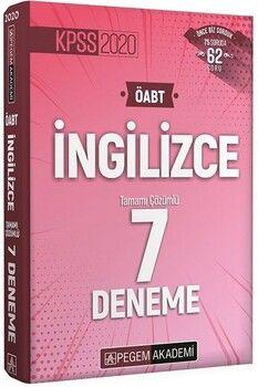 Pegem Yayınları 2020 KPSS ÖABT İngilizce Tamamı Çözümlü 7 Deneme