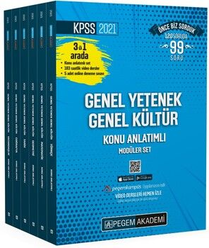 Pegem Yayınları 2021 KPSS Genel Yetenek Genel Kültür Konu Anlatımlı Modüler Set (6 Kitap)
