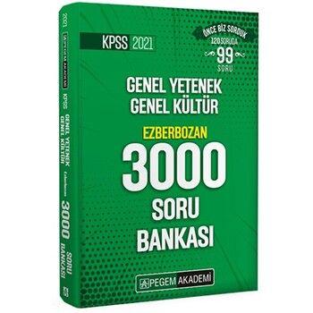 Pegem Yayınları 2021 KPSS Genel Yetenek Genel Kültür Ezberbozan 3000 Soru Bankası