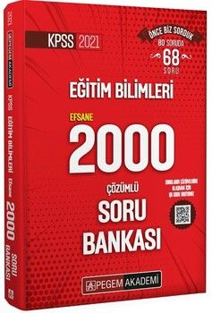 Pegem Yayınları 2021 KPSS Eğitim Bilimleri Çözümlü Efsane 2000 Soru Bankası