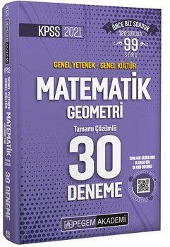 Pegem Yayınları 2021 KPSS Genel Yetenek Genel Kültür Matematik Geometri 30 Deneme