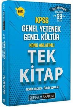 Pegem Yayınları 2021 KPSS Genel Yetenek Genel Kültür Konu Anlatımlı Tek Kitap