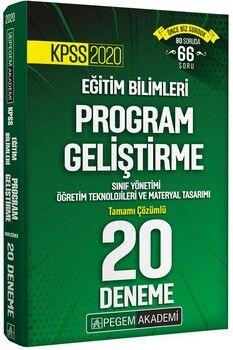 Pegem Yayınları 2020 KPSS Eğitim Bilimleri Program Geliştirme 20 Deneme