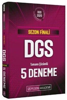 Pegem Yayınları 2020 DGS Sezon Finali Tamamı Çözümlü 5 Deneme