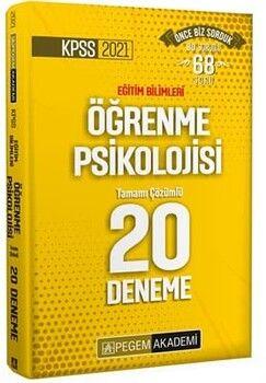 Pegem Yayınları 2021 KPSS Eğitim Bilimleri Öğrenme Psikolojisi Tamamı Çözümlü 20 Deneme