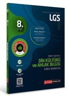 Pegem Yayınları 2021 8. Sınıf LGS Din Kültürü ve Ahlak Bilgisi Tamamı Çözümlü Soru Bankası