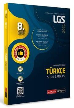 Pegem Yayınları 2021 8. Sınıf LGS Türkçe Tamamı Çözümlü Soru Bankası