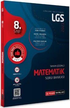 Pegem Yayınları 2021 8. Sınıf LGS Matematik Tamamı Çözümlü Soru Bankası