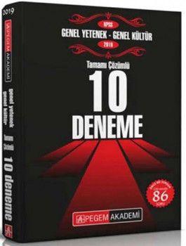 Pegem Yayınları 2019 KPSS Genel Yetenek Genel Kültür Tamamı Çözümlü 10 Deneme