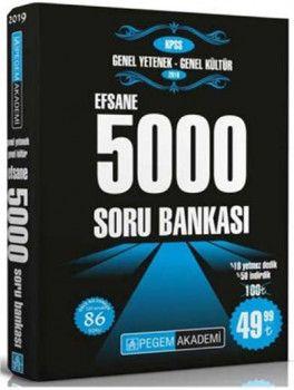 Pegem Yayınları 2019 KPSS Genel Yetenek Genel Kültür Efsane 5000 Soru Bankası