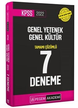 Pegem Yayınları 2022 KPSS Genel Yetenek Genel Kültür Tamamı Çözümlü 7 Deneme