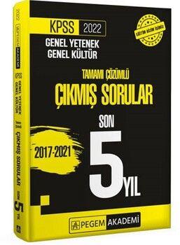Pegem Yayınları 2022 KPSS Genel Yetenek Genel Kültür Çıkmış Sorular Son 5 Sınav