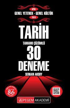 Pegem Yayınları 2019 KPSS Genel Yetenek Genel Kültür Tarih Tamamı Çözümlü 30 Deneme