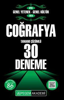 Pegem Yayınları 2019 KPSS Genel Yetenek Genel Kültür Coğrafya Tamamı Çözümlü 30 Deneme