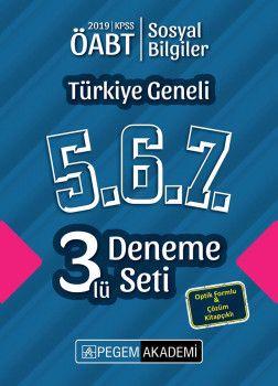 Pegem Yayınları 2019 ÖABT Sosyal Bilgiler Öğretmenliği Türkiye Geneli Deneme 5.6.7. 3 lü Deneme Seti