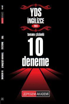 Pegem Yayınları 2019 YDS İngilizce Tamamı Çözümlü 10 Deneme