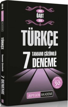Pegem Yayınları 2019 KPSS ÖABT Türkçe Tamamı Çözümlü 7 Deneme