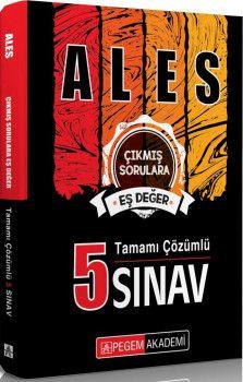 Pegem Yayınları ALES Tamamı Çözümlü 5 Sınav