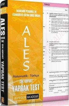 Pegem Yayınları ALES Matematik Türkçe Çek Kopart Yaprak Test