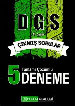 Pegem Yayınları DGS Tamamı Çözümlü 5 Sınav