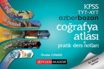 Pegem Yayınları KPSS TYT AYT Coğrafya Atlası ve Pratik Ders Notları