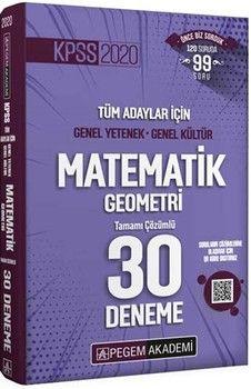 Pegem Yayınları KPSS Matematik Geometri Tamamı Çözümlü 30 Deneme
