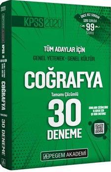 Pegem Yayınları KPSS Coğrafya Tamamı Çözümlü 30 Deneme