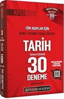 Pegem Yayınları KPSS Tarih Tamamı Çözümlü 30 Deneme
