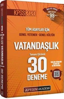 Pegem Yayınları KPSS Vatandaşlık Tamamı Çözümlü 30 Deneme