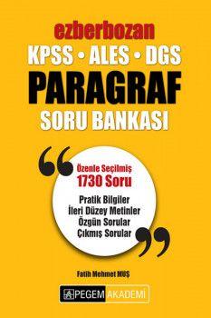 Pegem Yayınları KPSS ALES DGS Ezberbozan Paragraf Soru Bankası