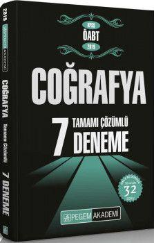 Pegem Yayınları KPSS ÖABT Coğrafya Tamamı Çözümlü 7 Deneme