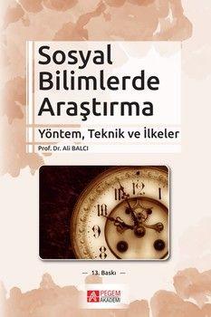 Pegem Yayınları Sosyal Bilimlerde Araştırma Yöntem Teknik ve İlkeler