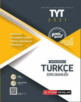 Pegem Yayınları TYT Türkçe Tamamı Çözümlü Soru Bankası