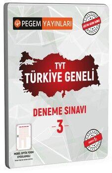 Pegem Yayınları TYT Türkiye Geneli Deneme Sınavı 3