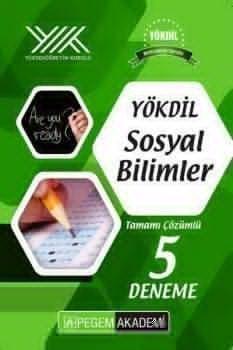 Pegem Yayınları YÖKDİL Sosyal Bilimler Tamamı Çözümlü 5 Deneme