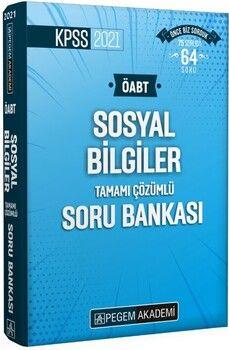 Pegem Yayınları2021 KPSS ÖABT Sosyal Bilgiler Tamamı Çözümlü Soru Bankası