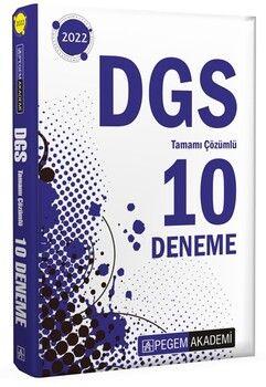 Pegem Yayınları2022 DGS Tamamı Çözümlü 10 Deneme