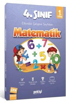 Pekiyi Yayınları 4. Sınıf Matematik Etkinlikli Çalışma Sayfaları 1. Kitap